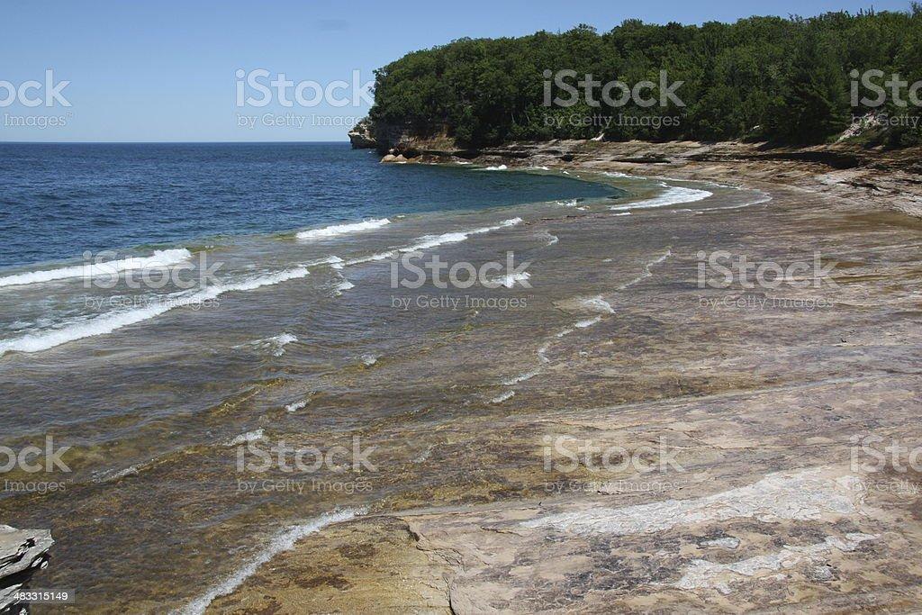 Pictured Rocks National Lakeshore, Michigan stock photo
