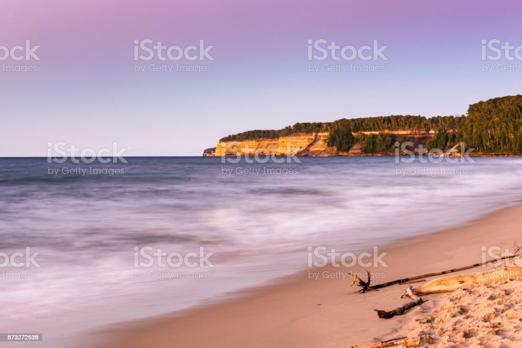 Pictured Rocks National Lakeshore stock photo