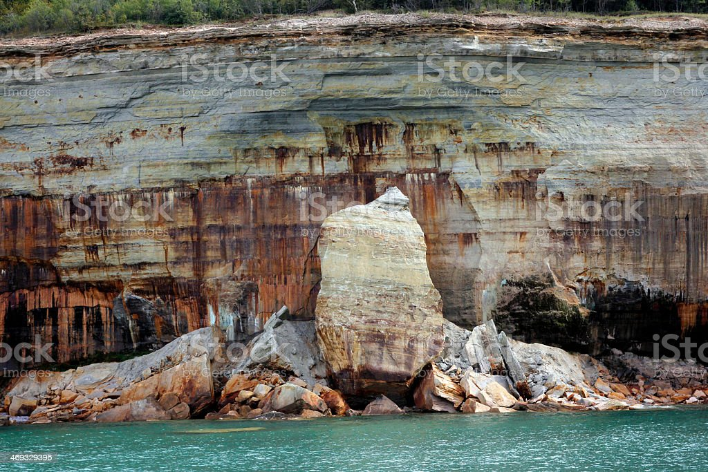 Pictured Rocks stock photo