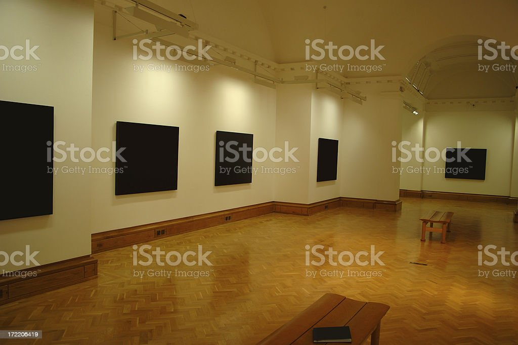 pictures at exhibition royalty-free stock photo