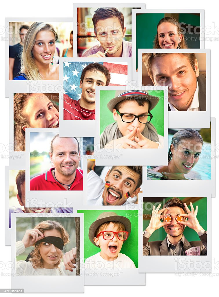 Pictures of friends stock photo