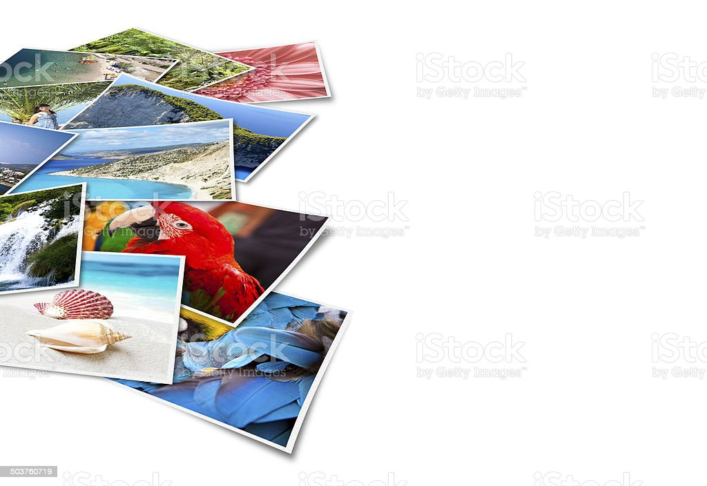 Pictures of holiday. stock photo