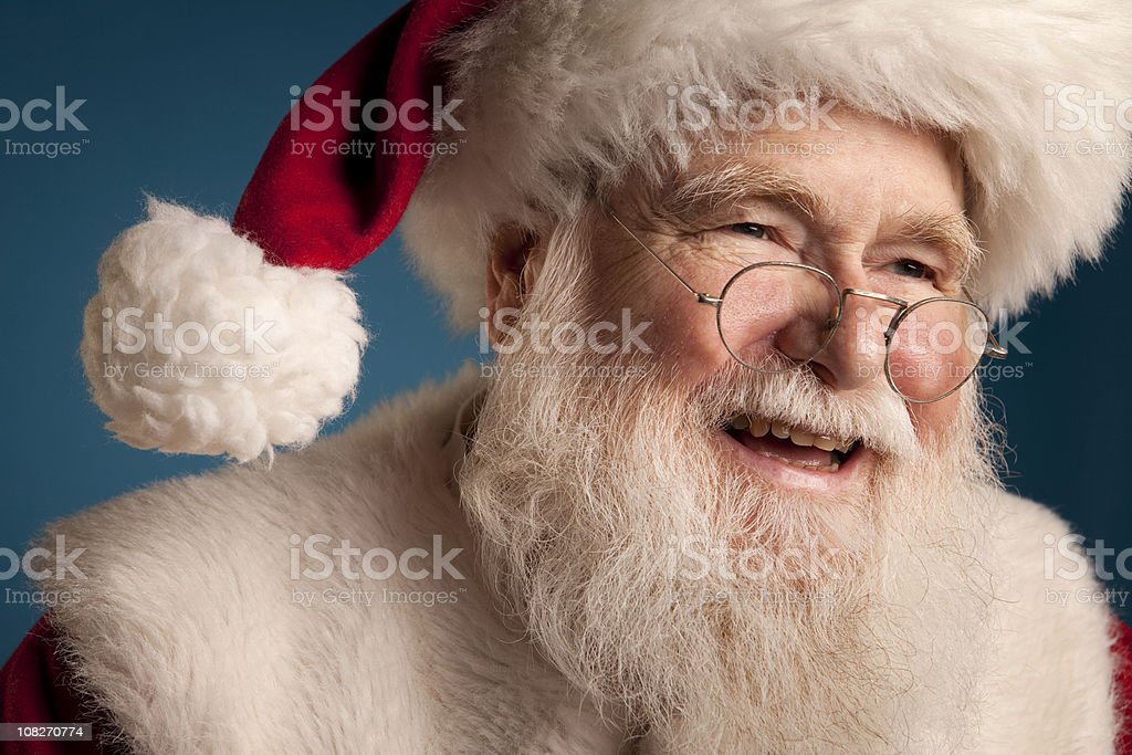 Pictures of Real Jolly Old Saint Nick royalty-free stock photo