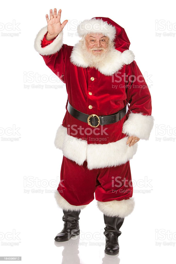 Pictures of Real Jolly, Old Santa Claus royalty-free stock photo