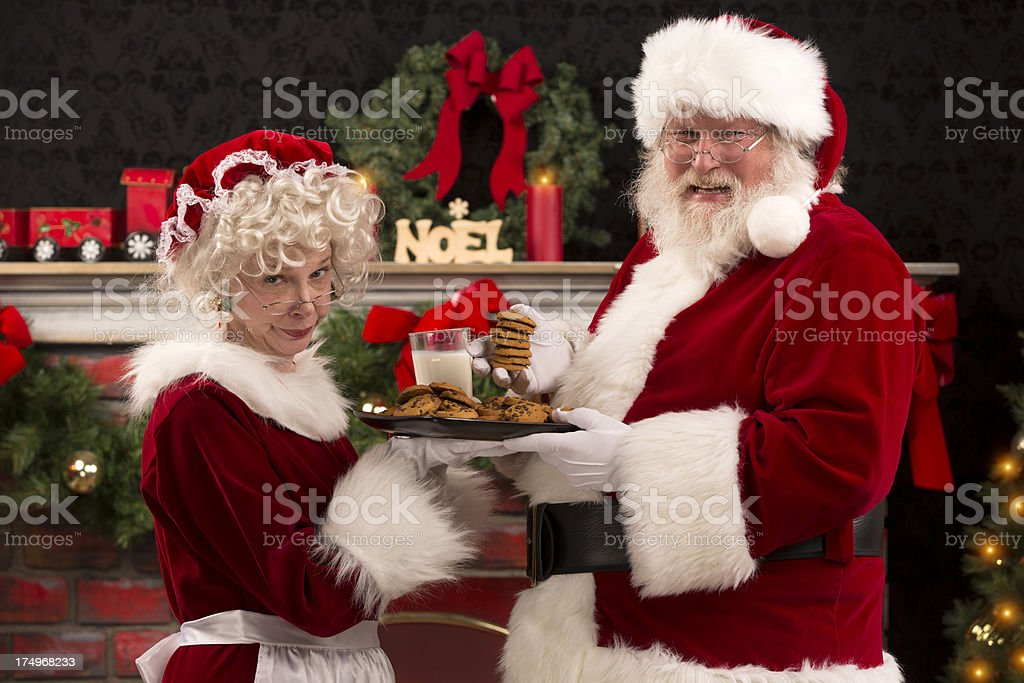 pictures of Real Ms. Claus mad at Santa stock photo
