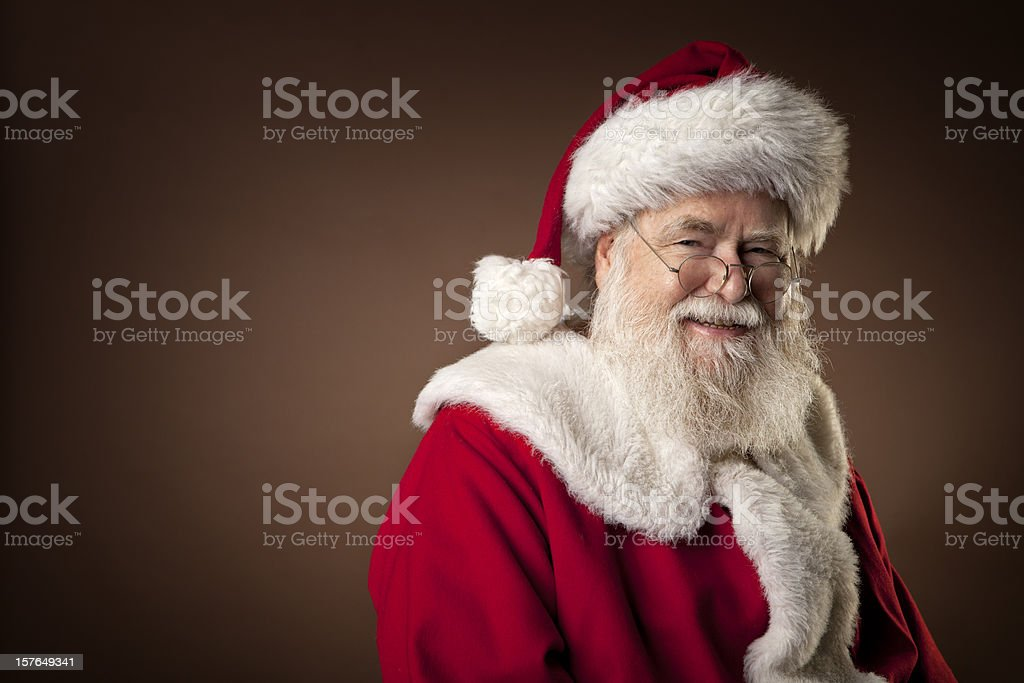 Pictures of Real Santa Claus royalty-free stock photo