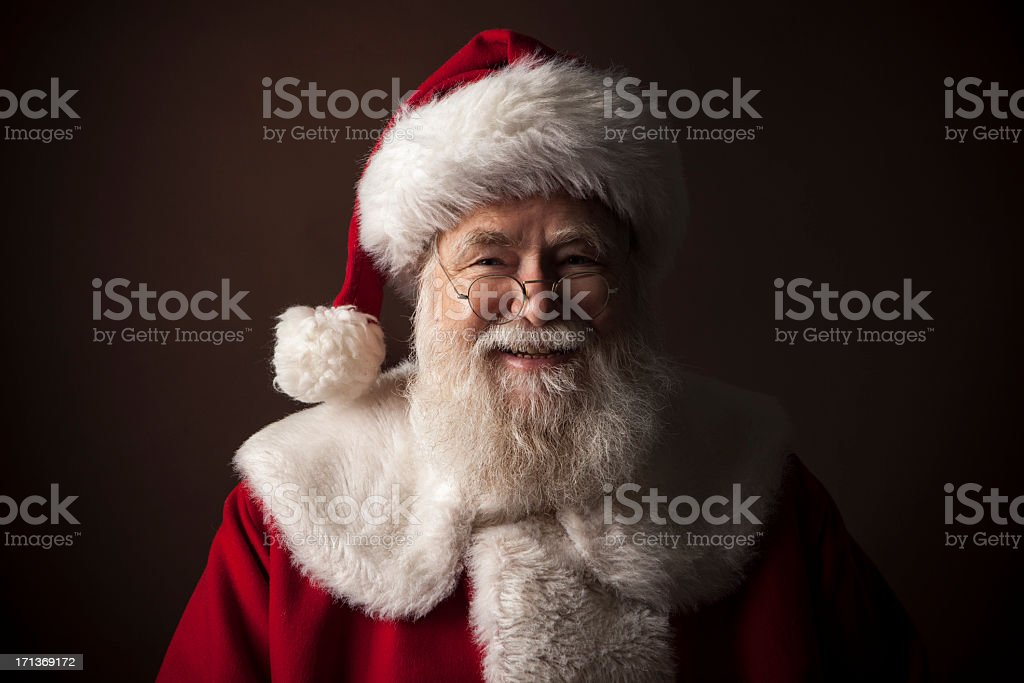 Pictures of Real Santa Claus stock photo