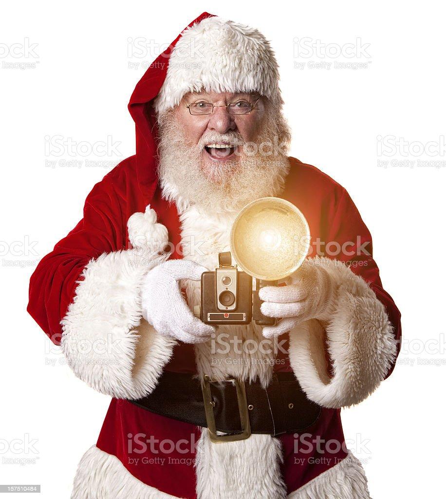 Bilder von echten Santa Claus mit einer Kamera – Foto