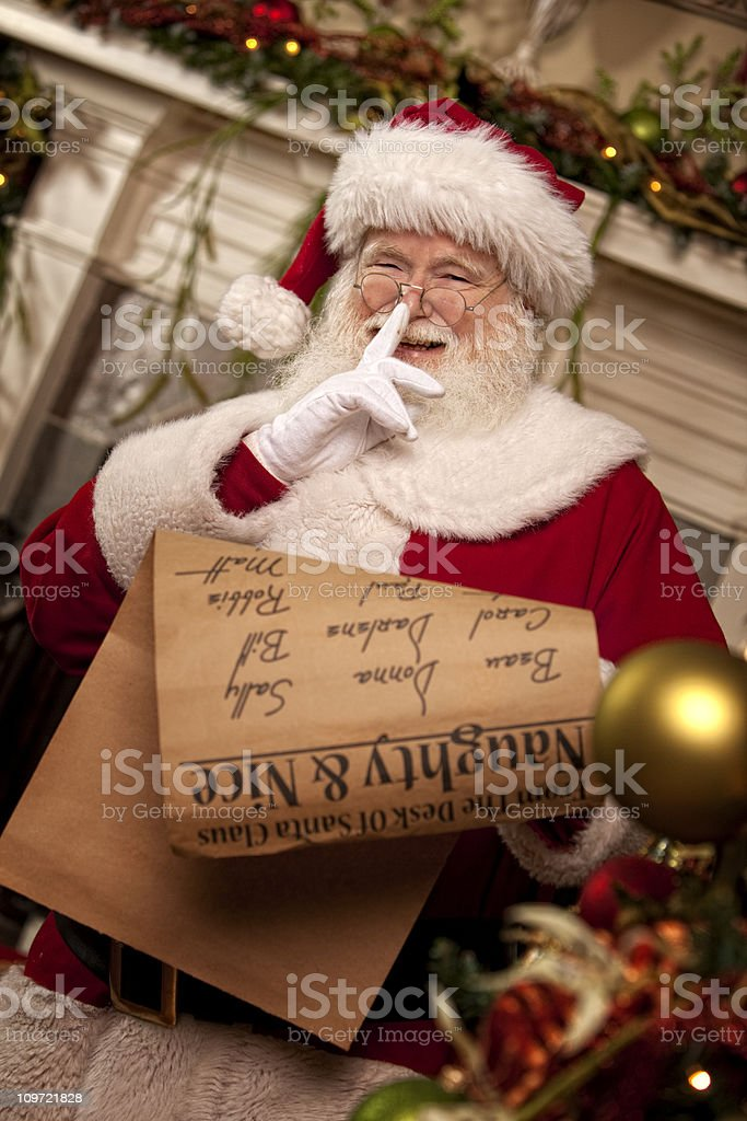 Pictures of Real Santa Claus\'s List He\'s Checking Twice