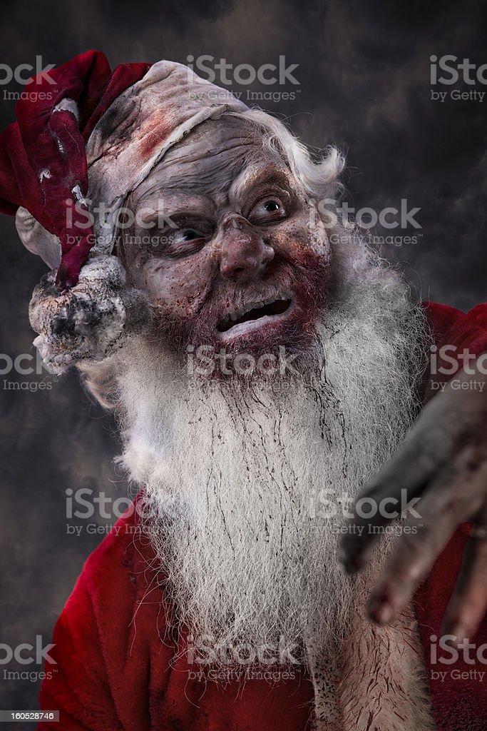 Babbo Natale Assassino.Foto Di Vera Santa Zombi Al Serial Killer Fotografie Stock E Altre
