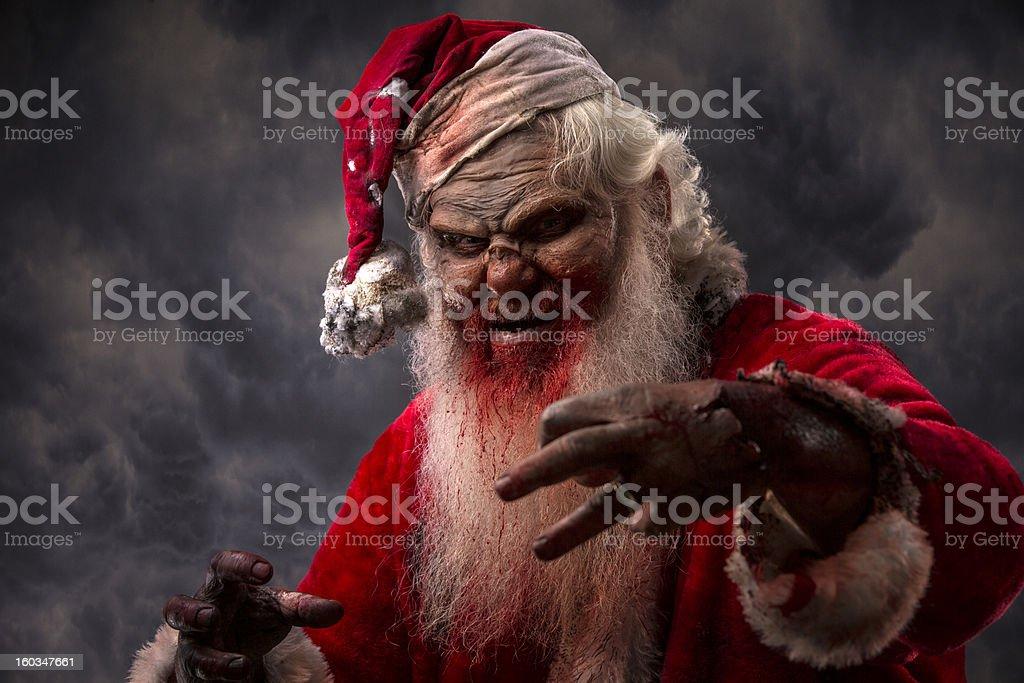 Babbo Natale Assassino.Foto Di Vera Serial Killer Santa Zombie Sulla Prowl Fotografie
