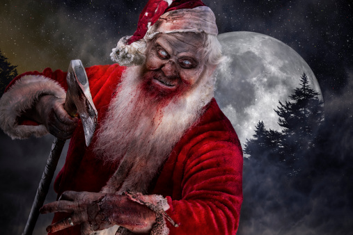 Pictures of Real Serial Killer Santa Zombie on the prowl
