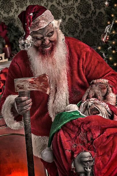 bilder von echten serienmörders santa zombie - zum totlachen stock-fotos und bilder