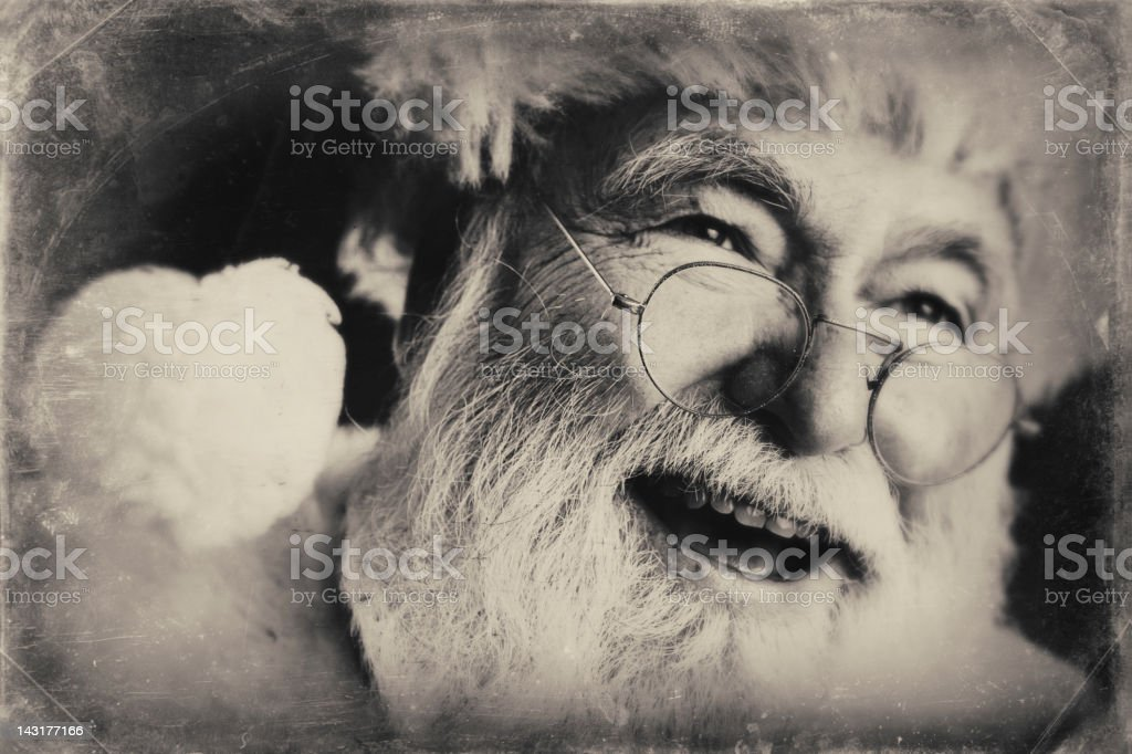 Pictures of Real Vintage Santa Claus royalty-free stock photo