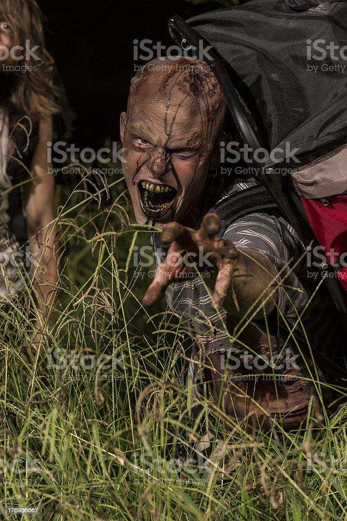 Pictures of Real Zombie Backpackers royalty-free stock photo