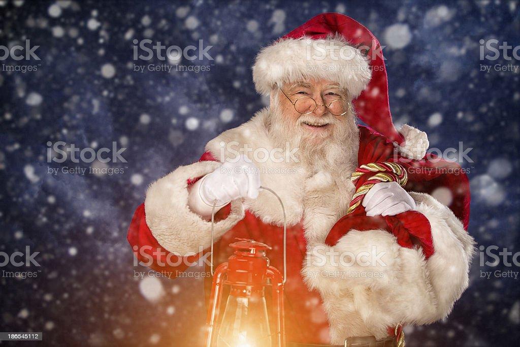 Bilder von Vintage echten Santa Claus tragen-sack – Foto