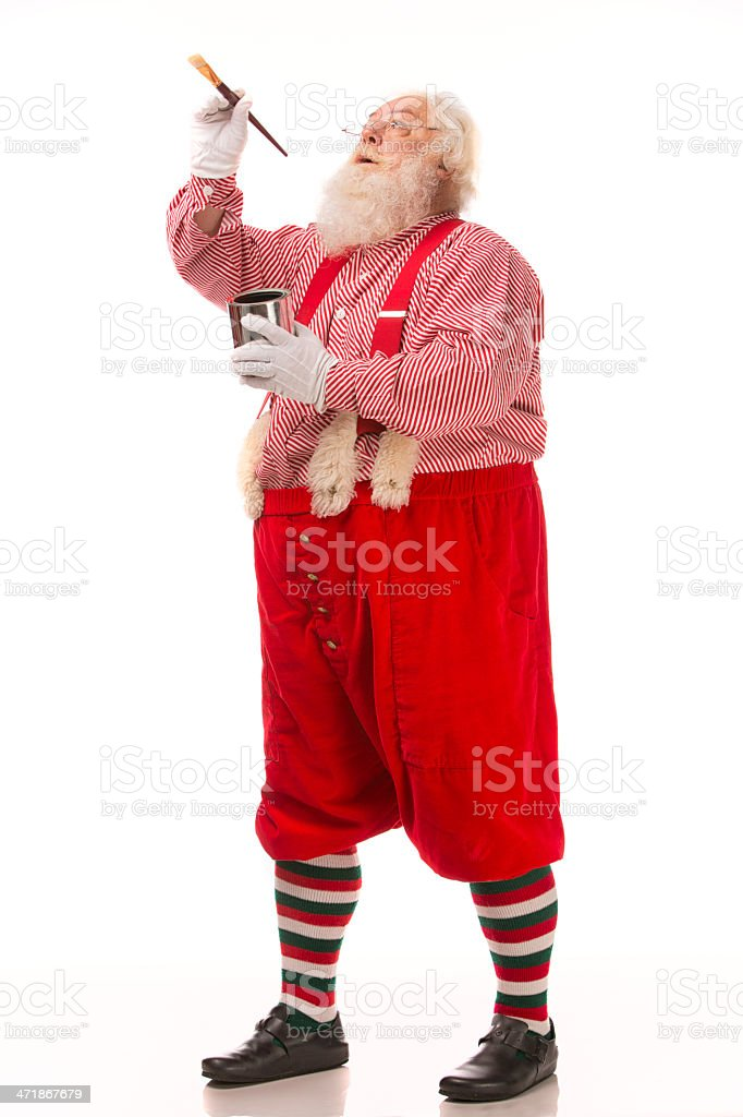 Pictures of Vintage Real Santa Claus painting royalty-free stock photo