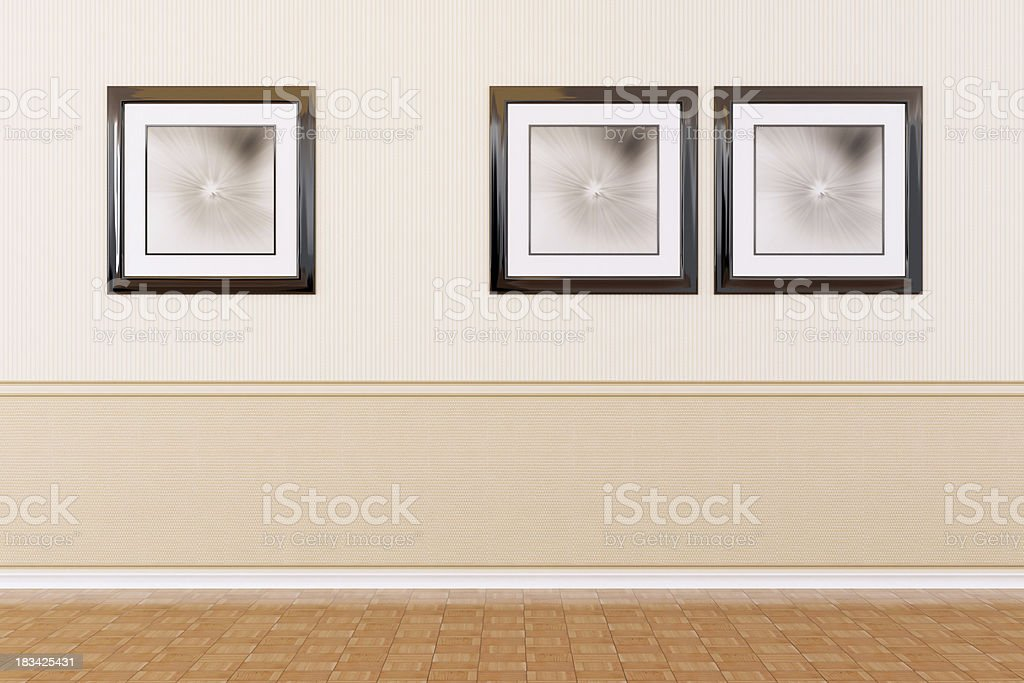Pictures on wall royalty-free stock photo