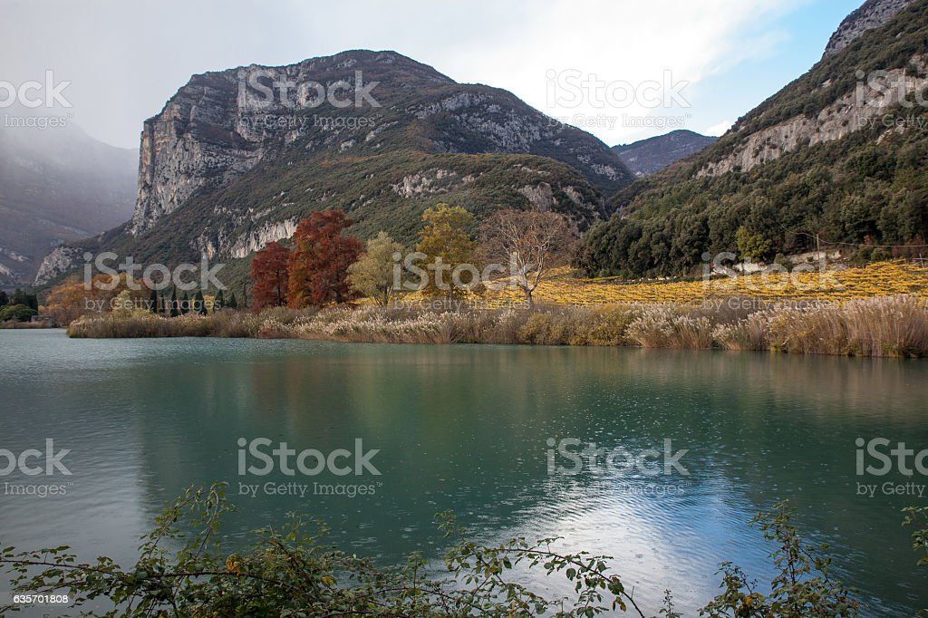 picturesc lake in mountain royalty-free stock photo