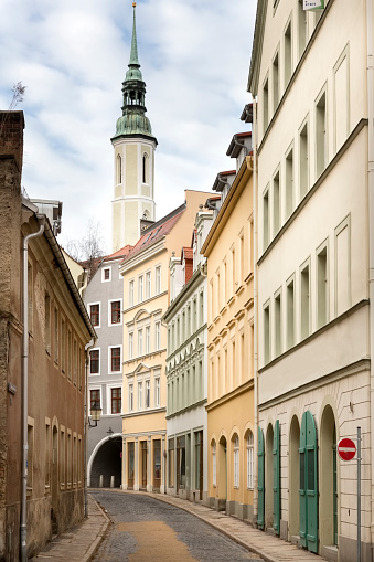 Picturesque Alley In The Town Of Goerlitz Germany Stock Photo - Download  Image Now - iStock