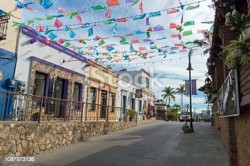 istock Picturesque and Colorful Mexican Town of San Jose Del Cabo 1087973136