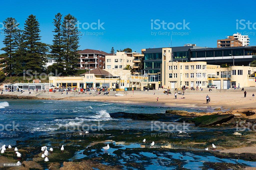 Picturesque Australian beach, Cronulla stock photo