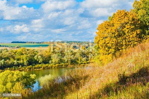 istock Picturesque autumn landscape 1023764064