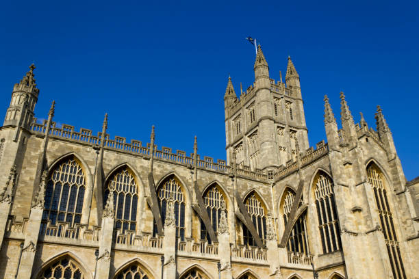 Picturesque Bath Abbey, UK  bath abbey stock pictures, royalty-free photos & images