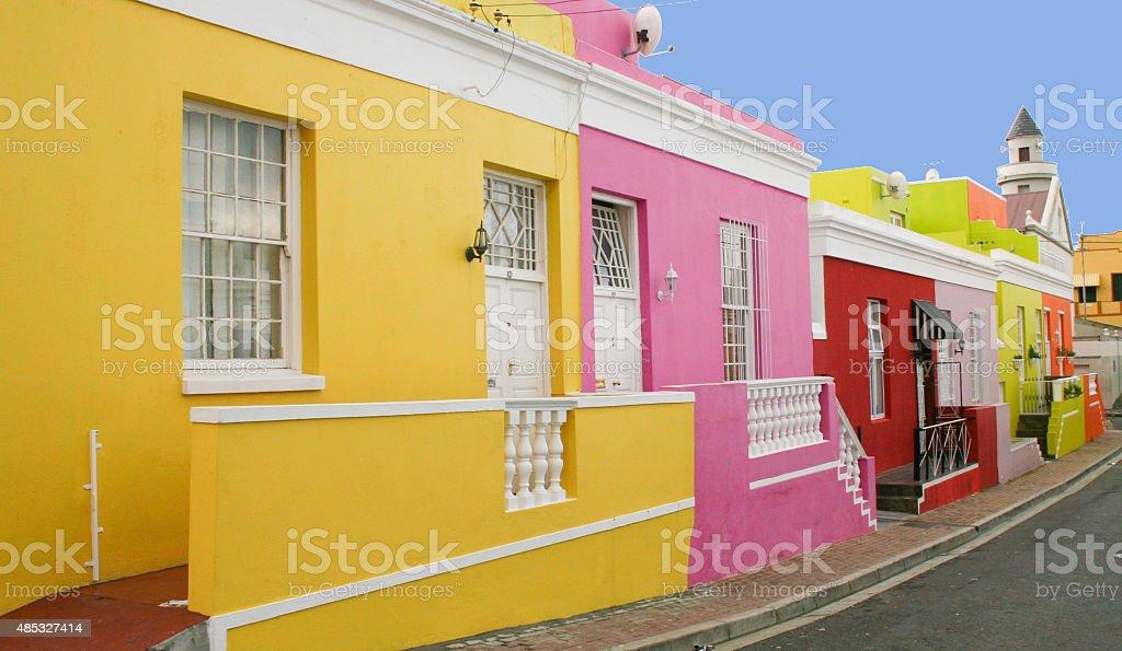 Malerisches Boo Kap-Viertel in Kapstadt, Südafrika stock photo
