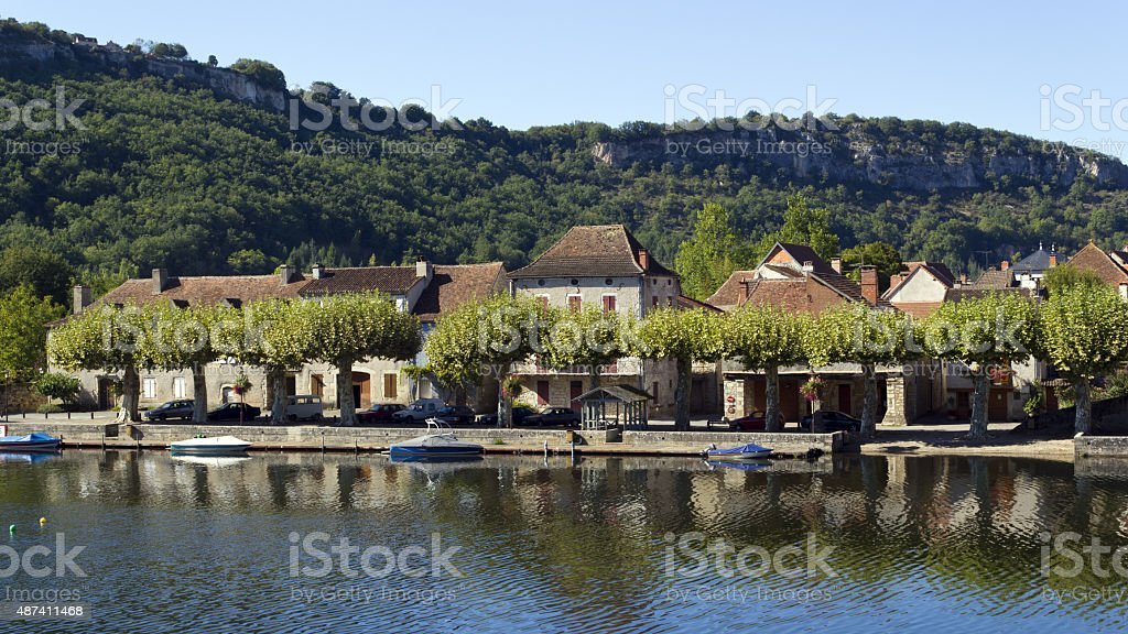 Picturesque Cajarc,  France stock photo