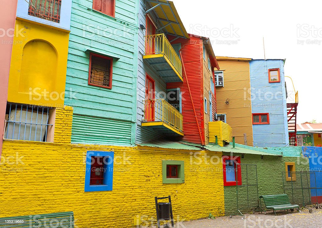 Picturesque Caminito street in La Boca stock photo