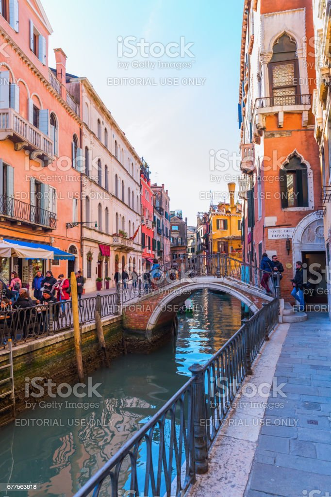 picturesque canal in Venice, Italy royalty-free stock photo