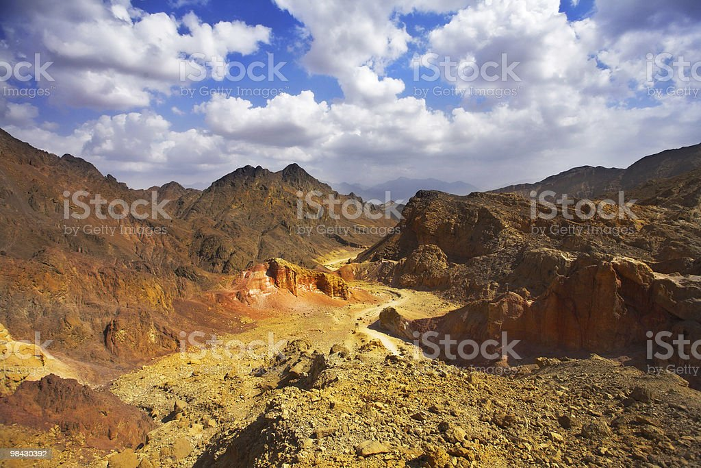 Picturesque canyon on coast of Red sea royalty-free stock photo