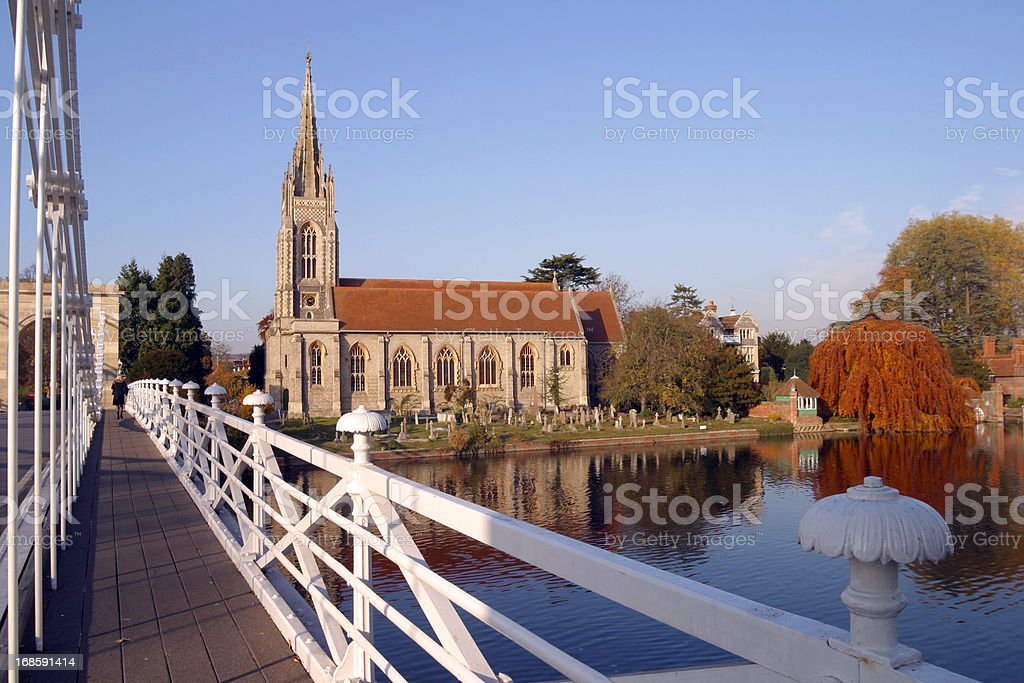 Picturesque Chilterns - Marlow stock photo