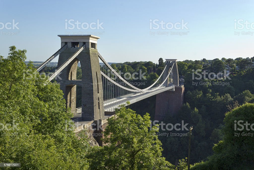 Picturesque City of Bristol - historic Clifton Suspension Bridge stock photo