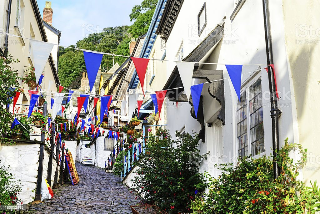 Picturesque Clovelly, North Devon, England royalty-free stock photo