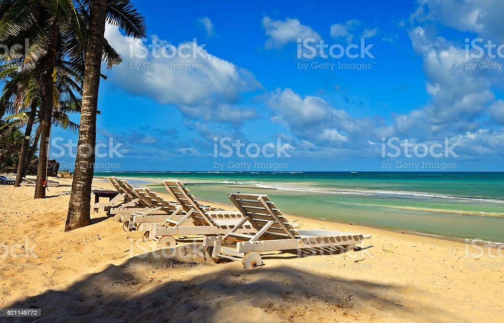Picturesque coast Diani stock photo