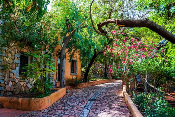 Picturesque corner in San Pantaleo stock photo