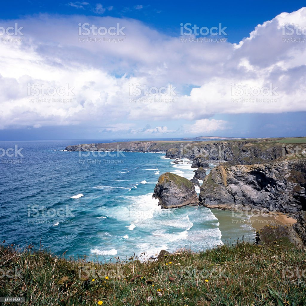 Picturesque Cornwall - Bedruthan stock photo