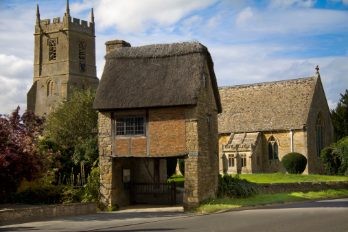 Picturesque Costwold Church, Long Compton