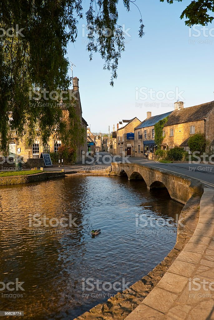 Picturesque Cotswold village royalty-free stock photo