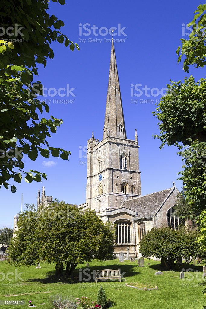 Picturesque Cotswolds - Burford Church stock photo