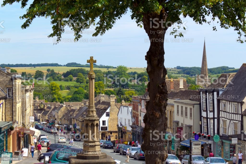 Picturesque Cotswolds - Burford stock photo