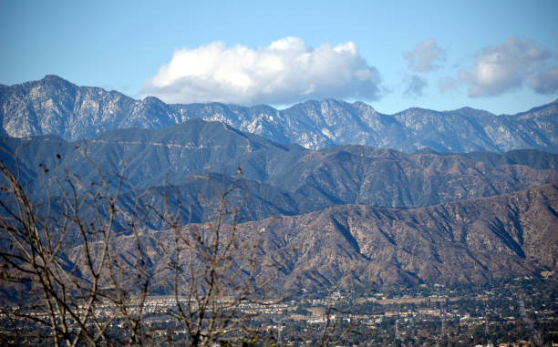 A Picturesque Day in the San Gabriel Valley stock photo