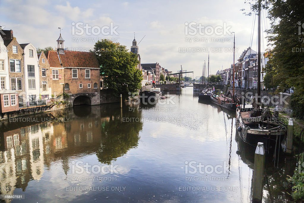 picturesque Delfshaven, Netherlands royalty-free stock photo