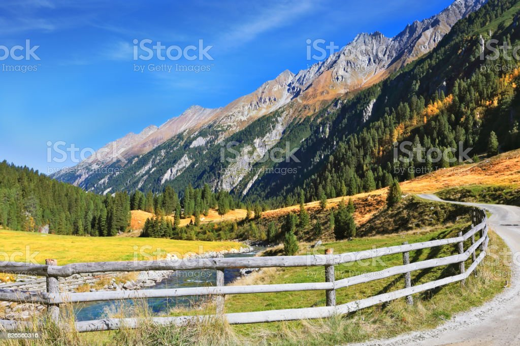 Picturesque farmer fence stock photo