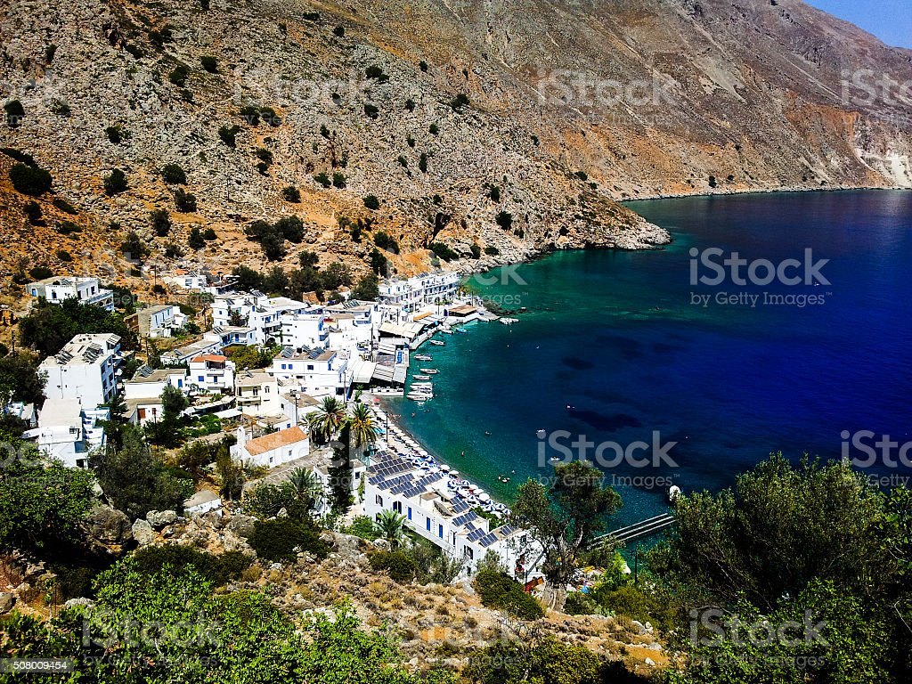picturesque fishing village stock photo