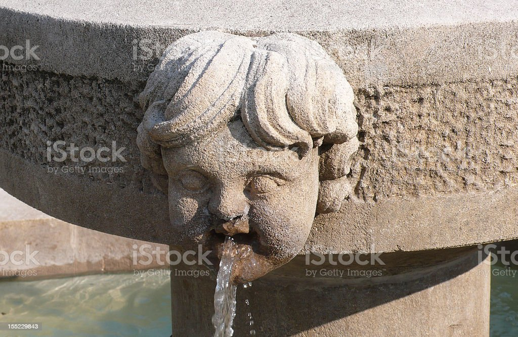 Picturesque fountain in Provence, France royalty-free stock photo