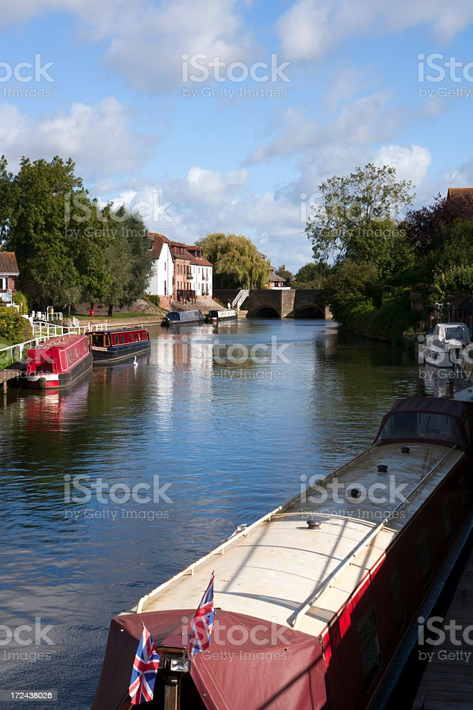 Picturesque Gloucestershire - Tewkesbury royalty-free stock photo