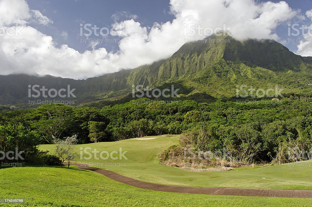 Picturesque Golf Course stock photo